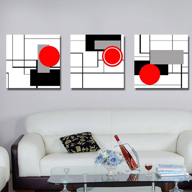 Simple and Elegant Style Unique Geometric Figure Pattern Canvas Art Prints