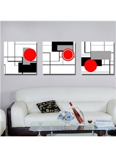 Simple and Elegant Style Unique Geometric Figure Pattern Canvas Wall Art Prints