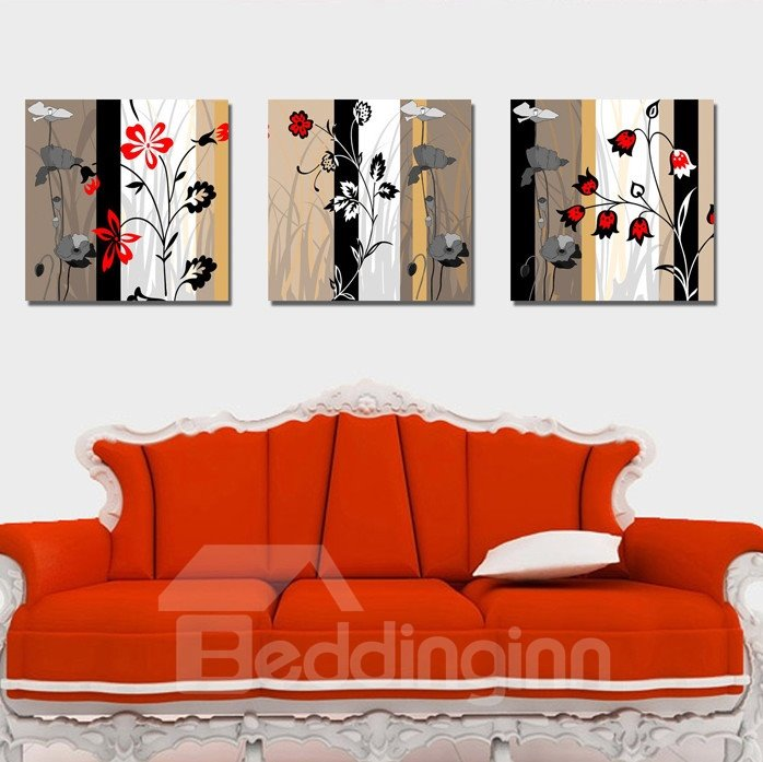 New Arrival Different Beautiful Flowers Canvas Wall Prints