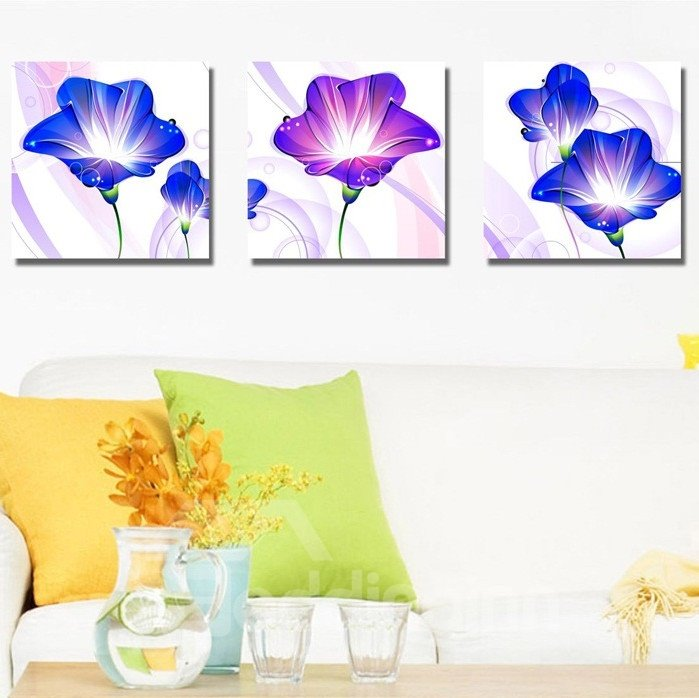 New Arrival Sweet and Delicate Purple Flowers Canvas Wall Prints