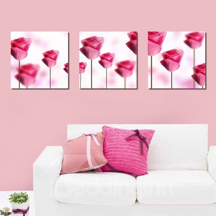 New Arrival Delicate and Sweet Red Flowers Canvas Wall Prints