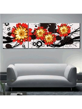 New Arrival Shiny Red Flowers Blossom Canvas Wall Prints