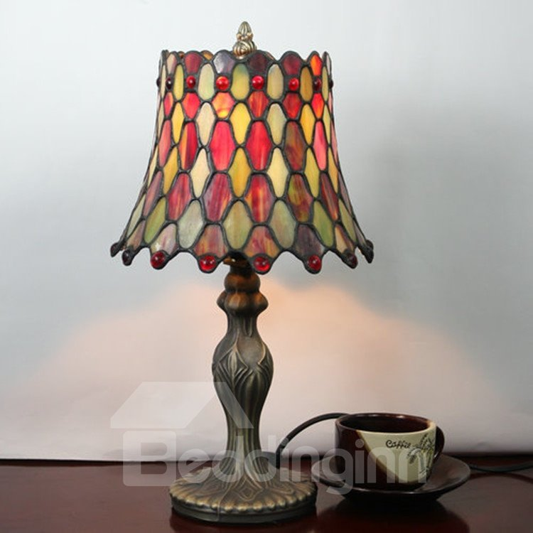 8-inch Retro Gorgeous Tiffany Stained Glass Table Lamp