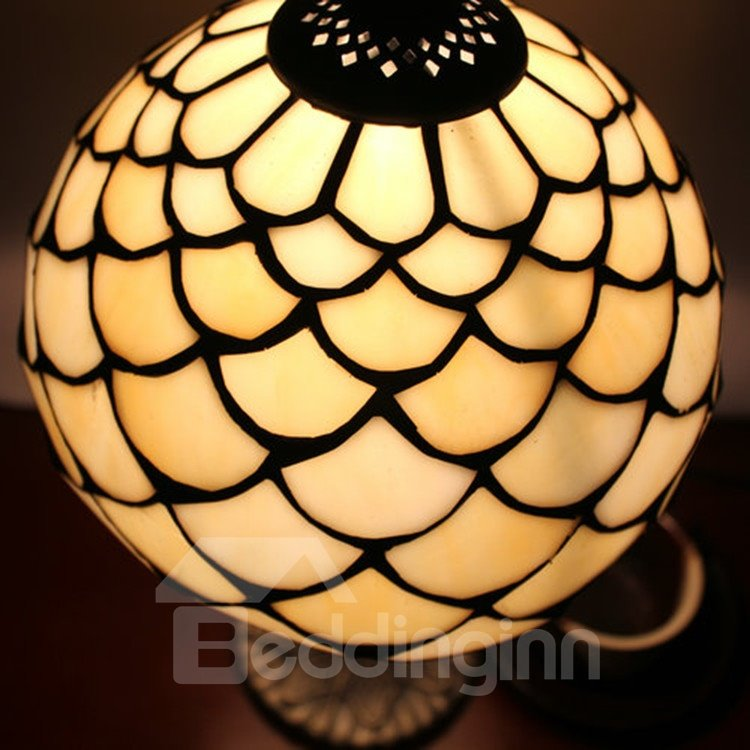 8-Inch Charming Modern Simple Tiffany Style Stained Glass Table Lamp