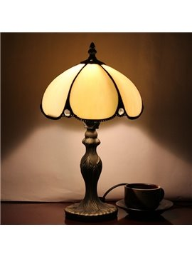 8-Inch Gorgeous Retro Simple Tiffany Style Stained Glass Table Lamp