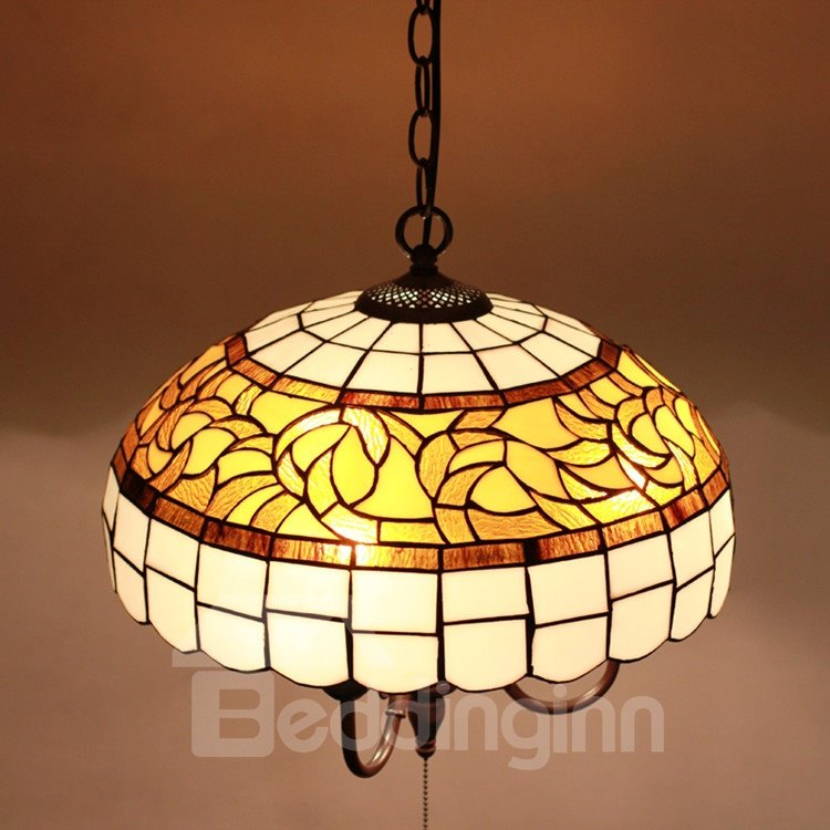 16-Inch Gorgeous Pretty Pattern Tiffany Stained Glass Pendant Light