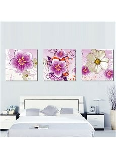 New Arrival Shiny and Blooming Colorfrul Flowers Canvas Wall Prints