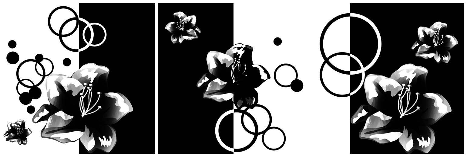 New Arrival Fragrant Flowers and Geometric Figure Canvas Wall Prints