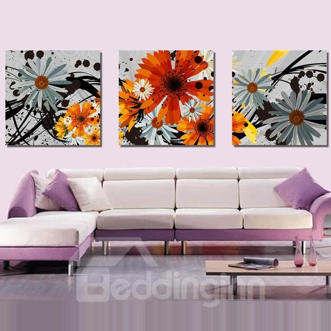 New Arrival Delicate and Colorful Flowers Blossom Canvas Wall Prints