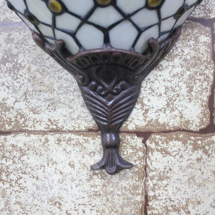 15-Inch Unique Style Tiffany Stained Glass Pocket Lantern