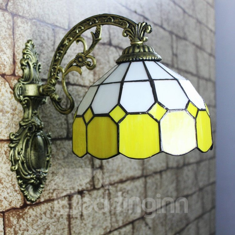 Alluring Simple Style Tiffany Stained Glass Wall Light