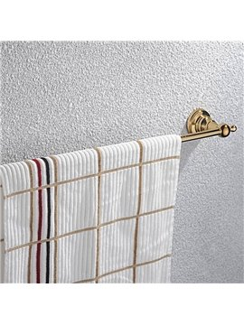 Contemporary Ti-PVD Finish Bathroom Accessories Brass Single Towel Rod