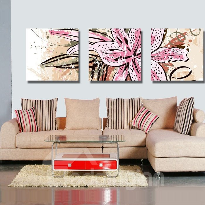 New Arrival Lovely Pink Flowers Blossom Canvas Wall Prints