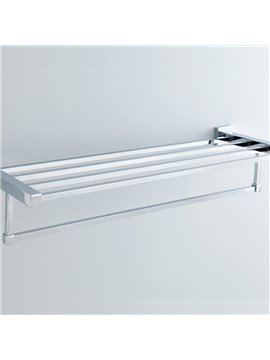 Chrome Finishd Solid Brass 24 Inch Bathroom Shelf