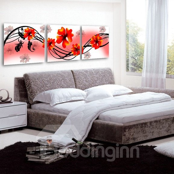 New Arrival Lovely and Cute Red Flowers Canvas Wall Prints
