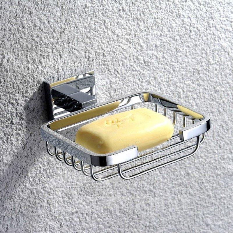 Silver Bathroom Accessories Solid Brass Soap Basket