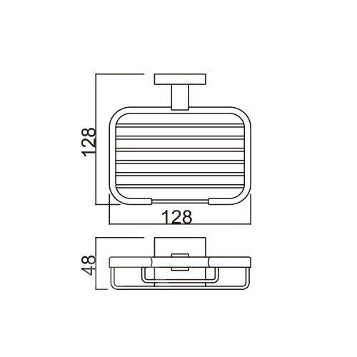 Silver Bathroom Accessories Solid Brass Soap Basket