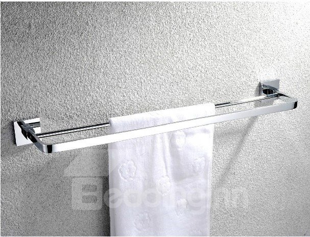 New Arrival Chrome Solid Brass 24 Inch Double Towel Bar