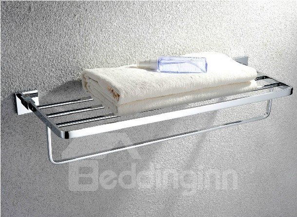 Chrome Finishd Solid Brass 24 Inch  Towel Bar Bathroom Shelf