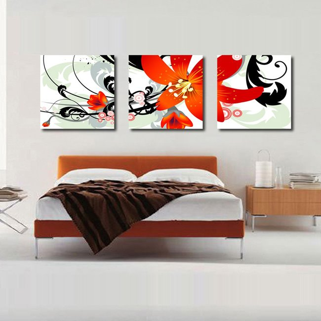 New Arrival Orange Flower Blossom Canvas Wall Prints