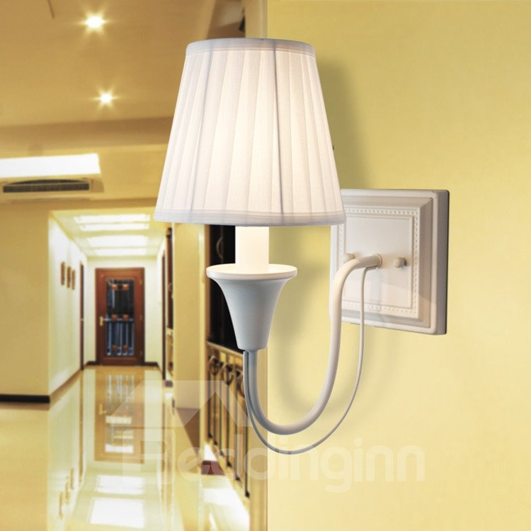 Amazing Iron Material Fabric Shade Wall Light