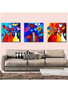 New Arrival Fancy Flowers in Distinctive Bottle Canvas Wall Prints