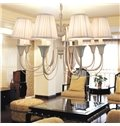 Splendid Iron Marerial Fabric Shade 8 Lights Chandelier