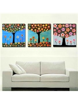 New Arrival Fragrant and Fancy Trees With Colorful Flowers Canvas Wall Prints