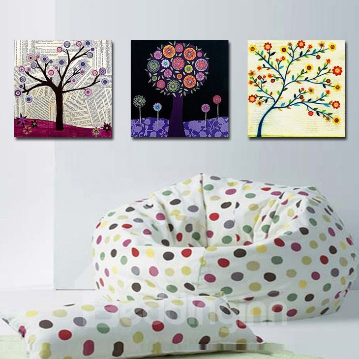 New Arrival Elegant Trees With Beautiful Flowers Canvas Wall Prints