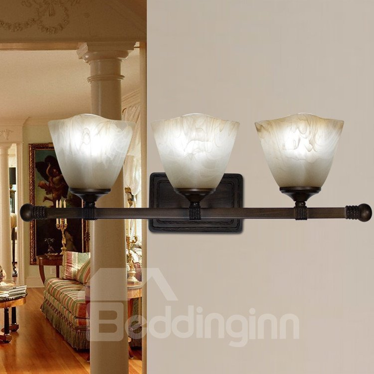 Chaeming Bronze Iron Material Fabric Shade Wall Light