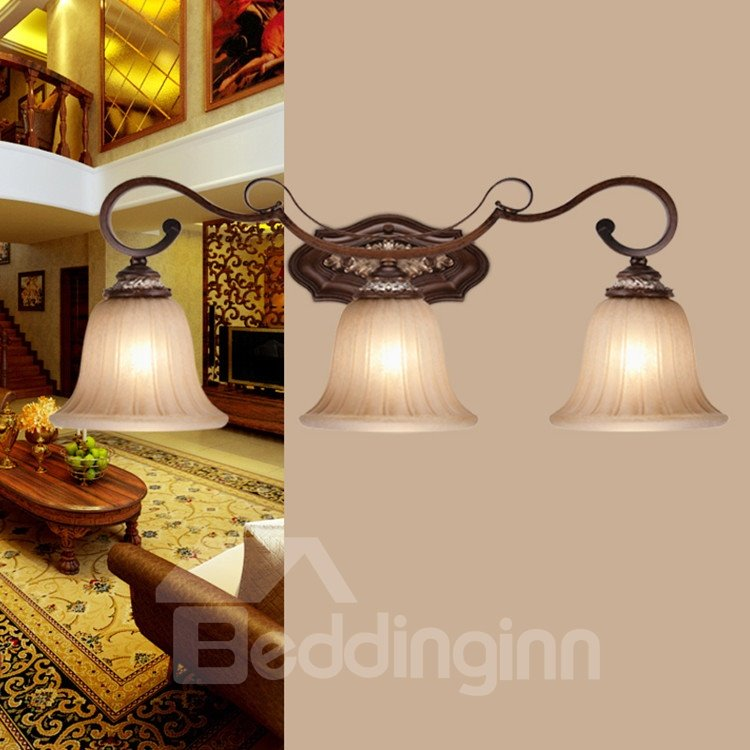 Antique Resin Iron Glass Shade Wall Light