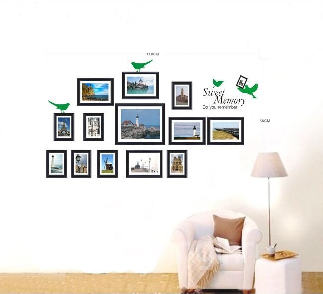 New Arrival Landscape at Seaside and Sweet Memory Wall Stickers