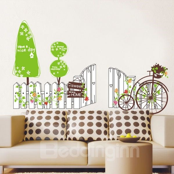 New Arrival Lovely Cars and Fence Wall Stickers