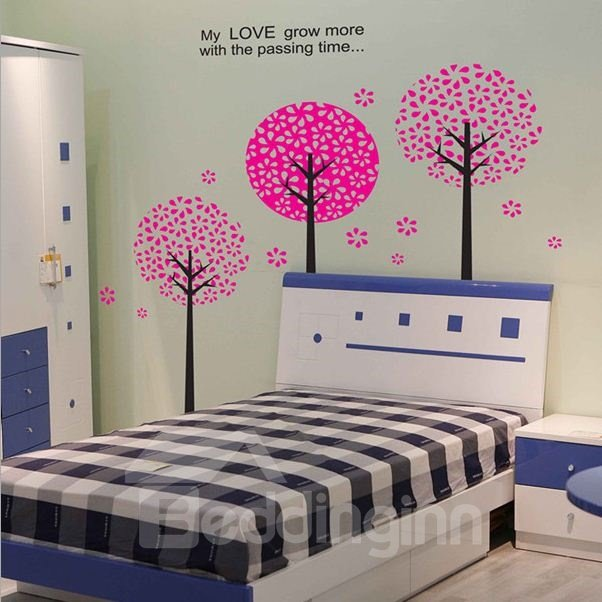 New Arrival Magic Trees with Time Passing Wall Stickers