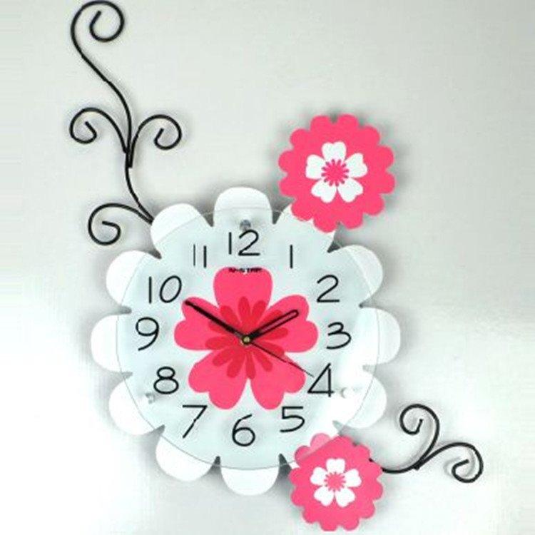 Modern Alluring Creative Floral Wall Clock