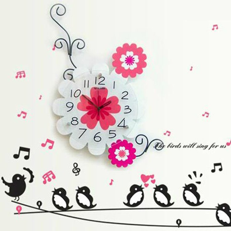 Modern Alluring Creative Floral Wall Clock