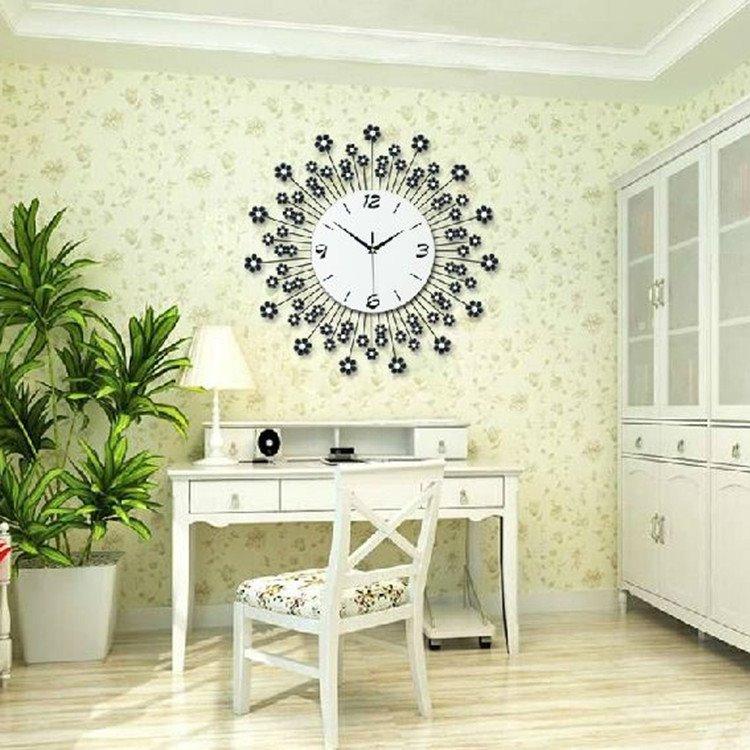 Hot Selling Fantastic Floral Dandelion Diamonds Decorative Wall Clock