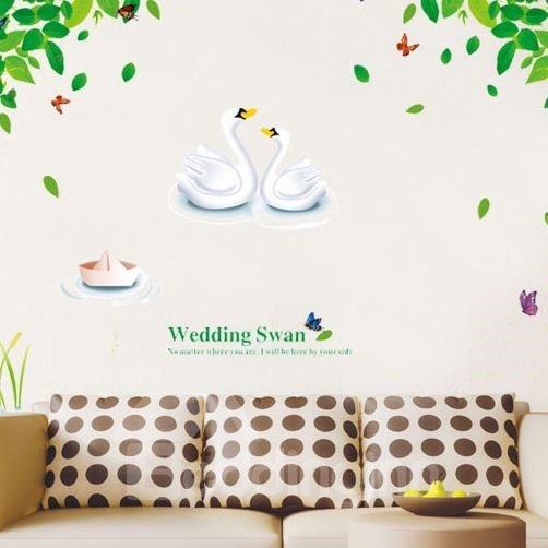 New Arrival Wedding Swan in Lakes Wall Stickers