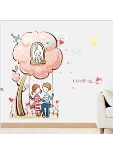 New Arrival Two People on the Swings Wall Stickers