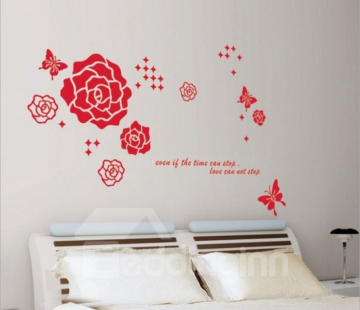 New Arrival Lovely Flowers and Butterflies Wall Stickers