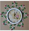 Hot Selling Pastoral Beautiful Roses Wall Clock