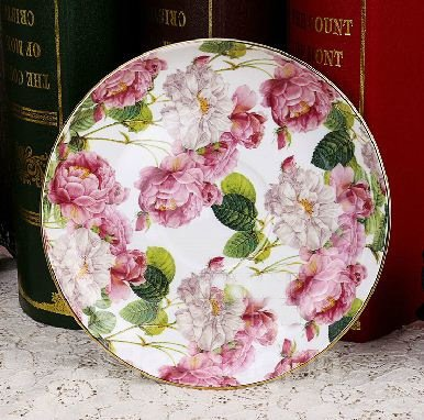 European Style Beautiful Roses Bone China 2 Cups and 2 Saucers Sets