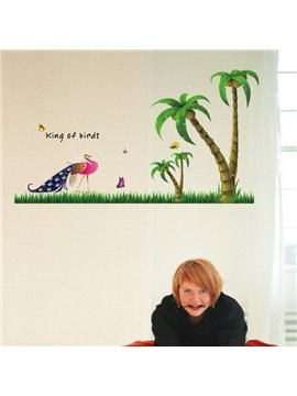 New Arrival Significant Peacock and Coconut Palm Wall Stickers