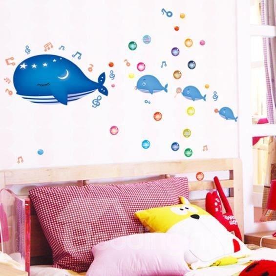 New Arrival Fancy Undersea Whale Wall Stickers