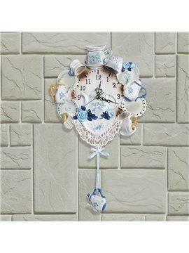 Allluring Mediterranean Style Resin Wall Clock