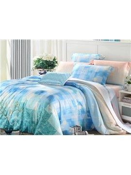High Quality Comfy Beautiful 4 Pieces Tencel Bedding Sets