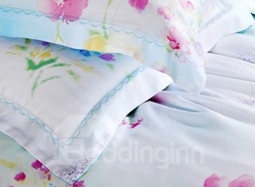 High Quality Fabulous Floral Patterns 4 Pieces Tencel Bedding Sets