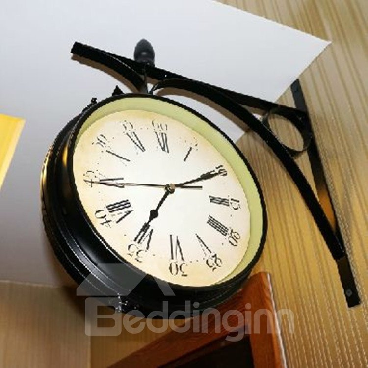 European Style Elegant Retro Metal Wall Clock
