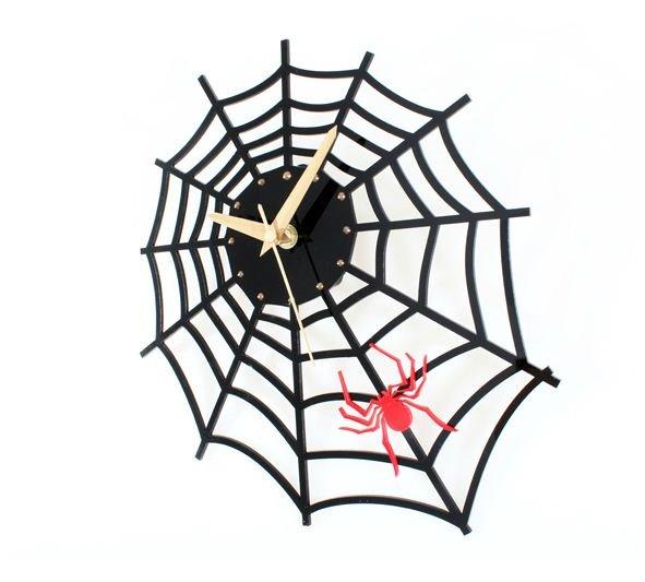 Amazing Creative Spider Web Acrylic Wall Clock