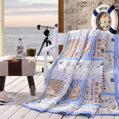 New Arrival Polka Dot and Unique Pattern Cotton Summer Quilts